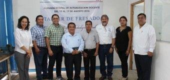 BRILLANTE INICIO DEL CURSO DE MAQUINADO FRESADO CÓNICODE ACTUALIZACION DOCENTE.