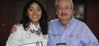FELICITA RECTOR A EGRESADA DE LA UAT, GANADORA DEL PREMIO NACIONAL CENEVAL