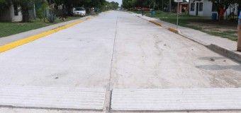 Pavimentan Más Calles en el Ejido La Pedrera