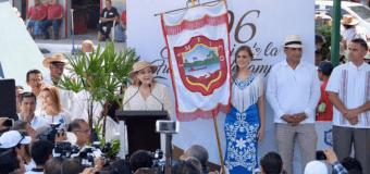 Alma Laura Amparán y el cabildo altamirense participaron en la celebración del 196 aniversario de la fundación de Tampico