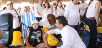 Gobierno de Tamaulipas convierte Miramar en la primera playa Incluyente del Golfo