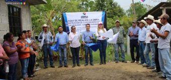 Banderazo oficial de la obra CONSTRUCCIÓN DE CUARTOS Dormitorios en la localidad de Comales