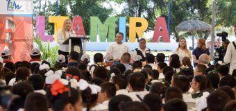 Inauguran Alma Laura Amparán y Mariana Gómez de García Cabeza de Vaca Caravana de Educación Vial