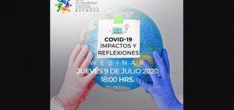 Invita Mesa de Seguridad y Justicia a seminario COVID-19: Impactos y Reflexiones