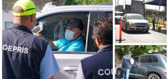 Refuerza Gobierno del Estado operativos sanitario para evitar viajes no esenciales de Texas a Tamaulipas.