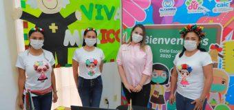 Refrenda Alma Laura Hernández apoyo a alumnos del CAIC