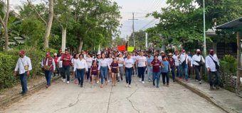 YARA YAMILETH AGUILAR GIL CANDIDATA A PRESIDENTA MUNICIPAL ES RESPALDADA POR LAS COMUNIDADES DEL MUNICIPIO DE CHINAMPA DE GOROSTIZA.