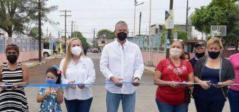 Inaugura Alma Laura Amparán pavimentaciones a base de concreto asfáltico