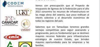 Sectores productivos solicitan a Diputados Federales tamaulipecos defender el presupuesto para Tamaulipas